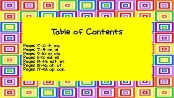 Bilingual - English/Spanish - 2nd Quarter - Word Work Homework - 1st Grade