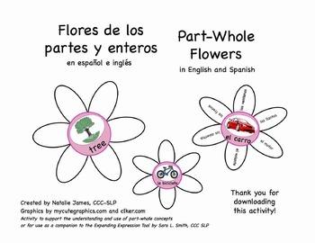 Bilingual (English/Spanish) Part Whole Flowers