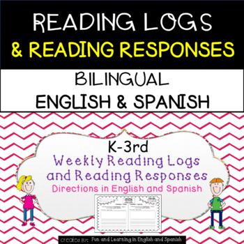 Reading Homework-Bilingual-English/Spanish- K-3rd -Reading