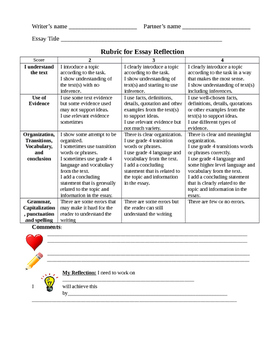 Bilingual Essay Rubric for Partner Reflection