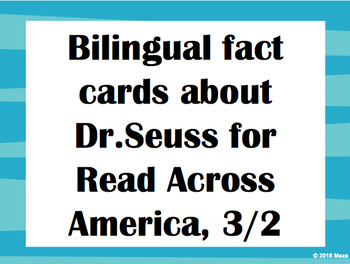 Bilingual Fact Cards for Bulletin Board Display