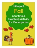 Bilingual Fall Counting and Graphing Activity (Contar y grafica - otoño) Kinder