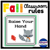 Bilingual Classroom Rules in English & Spanish - Fall Theme
