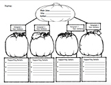 Bilingual Fall Themed Graphic Organizer for Main Idea and