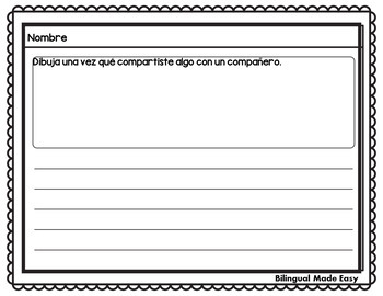 Bilingual Fall Writing Prompts in English and Spanish