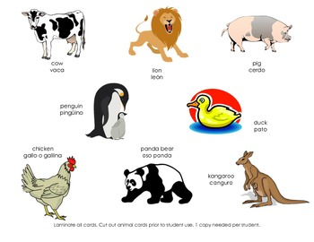 Bilingual Farm Animal Sorting