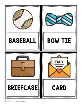 Bilingual Father's Day Word Cards
