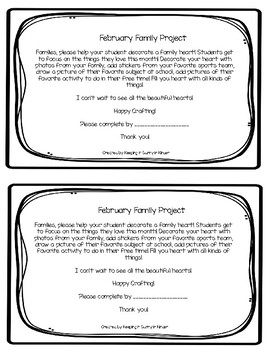 Bilingual February Family Projects