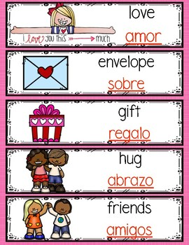 Monthly Bilingual February Words