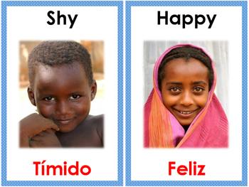 Bilingual Feelings Cards Set -FREE Version