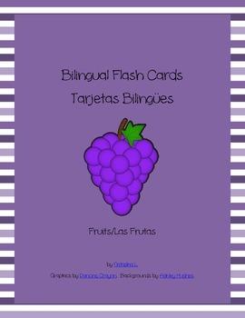 Bilingual Flash Cards:  Fruits (English/Spanish)