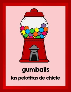 Bilingual Flash Cards:  Sweet Treats (English and Spanish)