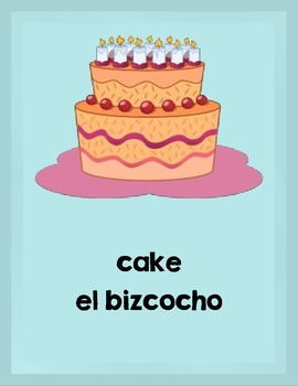 Bilingual Flash Cards:  Sweet Treats (English and Spanish)