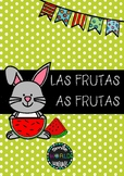 Bilingual Flashcards Las Frutas - As Frutas Español Português Spanish