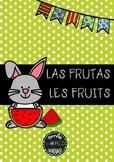 Bilingual Flashcards Las Frutas - Les Fruits Español Français Spanish French