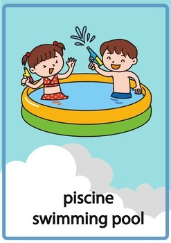 Bilingual Flashcards Summer - ETE / French / francais / English / Anglais