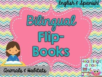 Bilingual Flip Book: Animals & Habitats