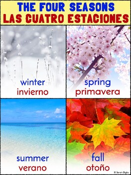 Bilingual Four Seasons/Cuatro Estaciones Poster