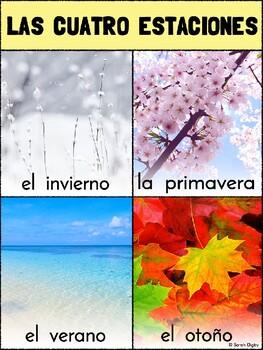 Spanish and English Four Seasons / Cuatro Estaciones Posters (Set of 2)