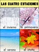 Spanish and English Four Seasons / Cuatro Estaciones Poste