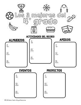 Bilingual Fourth Grade Yearbook