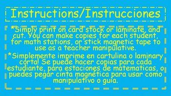 Bilingual Fraction/Fracciones Manipulatives!