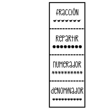 Bilingual Fraction Term Flapbook