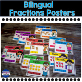 Bilingual Fractions Anchor Charts Bulletin Board Set in En