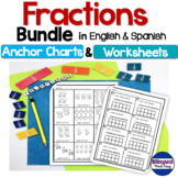 Bilingual Fractions Bundle in English & Spanish