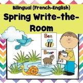 Bilingual (French-English) Spring Write the Room