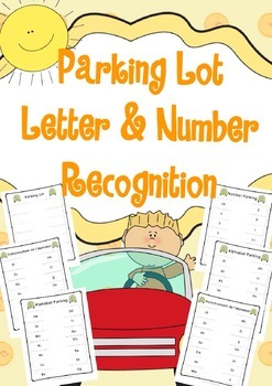 Bilingual (French-English) Parking Lot Letter & Number Recognition Activity