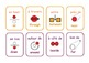 Bilingual French / English  particles  flashcards .20 Flas