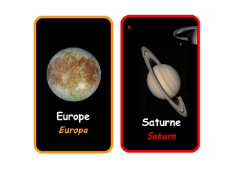 Bilingual French and English:The Solar System