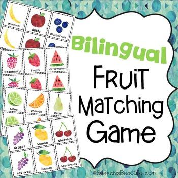 Bilingual Fruit Matching Game