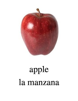 Bilingual Fruits English and Spanish PDF