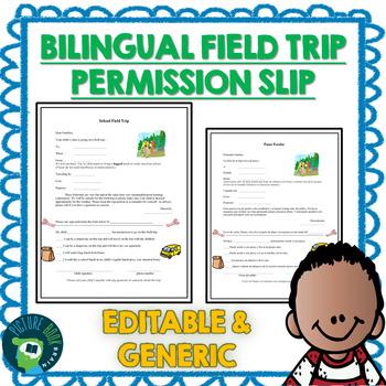 Bilingual Generic Field Trip Permission Slip