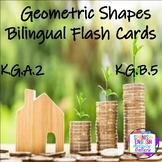 Geometric Shapes Bilingual Flash Cards