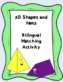 Bilingual - Geometric Solids and Nets (English and Spanish)