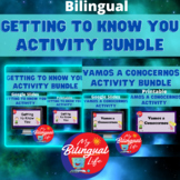 Bilingual Getting to Know You Beginning of Year Bundle in