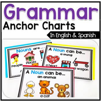 Bilingual Grammar Anchor Chart Posters in English & Spanish