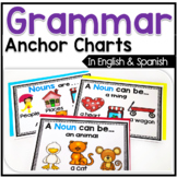 Bilingual Grammar Anchor Chart Posters in English & Spanish