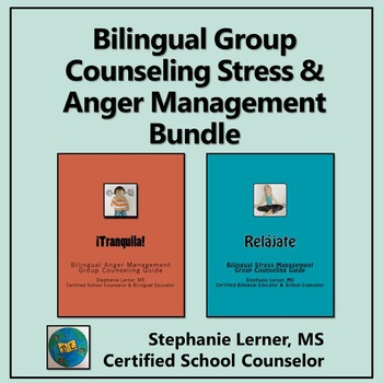 Bilingual Group Counseling Stress/Anger Management Bundle