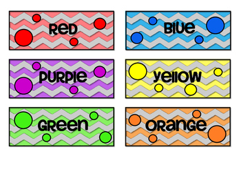 Spanish Bilingual Group Table Colors