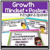 Bilingual Growth Mindset Posters in English & Spanish: Chi