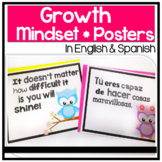 Bilingual Growth Mindset Posters in English & Spanish: Spr