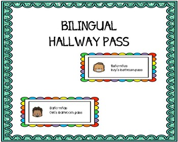 Bilingual Hall Pass