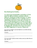Bilingual Halloween Celebration Parent Letter