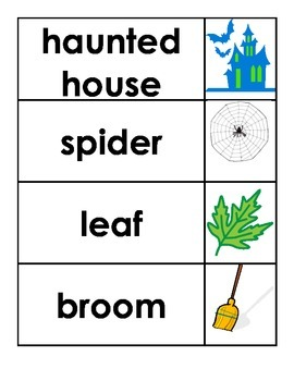 Bilingual Halloween Vocabulary Game- French and English (Word Wall Words)