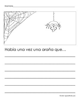 Bilingual Halloween Writing Sheets (English & Spanish)