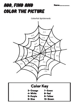 Halloween activities for Math in English and Spanish (Addition)